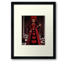 Ebony Queen of Hearts Framed Print