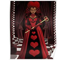 Ebony Queen of Hearts Poster