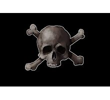 Jolly Roger Skull and Cross Bones Painting Photographic Print