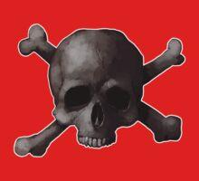 Jolly Roger Skull and Cross Bones Painting Kids Tee