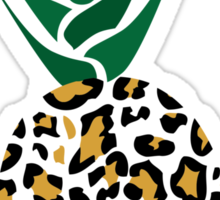Leopard or Pineapple? Funny illusion Picture Sticker