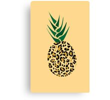 Leopard or Pineapple? Funny illusion Picture Canvas Print
