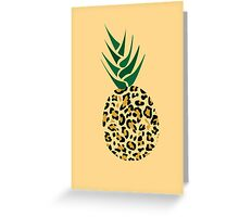 Leopard or Pineapple? Funny illusion Picture Greeting Card