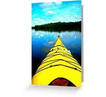 Kayak Exploration Greeting Card
