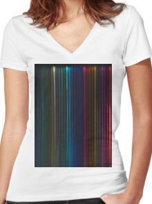 Pencil 2 Women's Fitted V-Neck T-Shirt