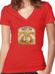 Carter's Backhand Shelf Women's Fitted V-Neck T-Shirt