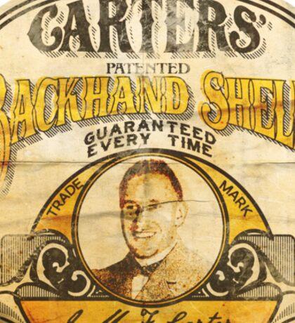 Carter's Backhand Shelf Sticker