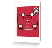 Transformers - Sideswipe Greeting Card