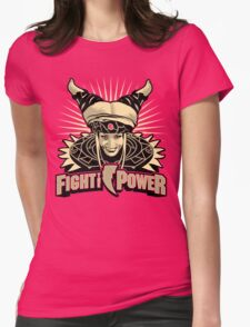Fight the Power! Womens Fitted T-Shirt