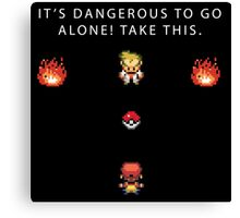 Dangerous to go Alone Canvas Print