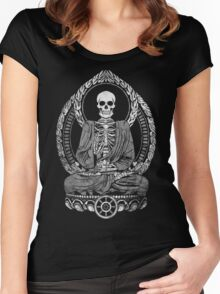 Starving Buddha Weathered Halftone Women's Fitted Scoop T-Shirt