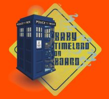 Doctor Who Tardis - Baby Timelord on Board Kids Clothes