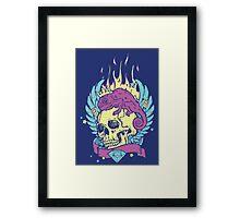 Skull Tee Framed Print