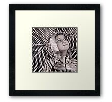 Rain Geometry Framed Print