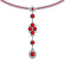 Ruby Enchantment Necklace by eldonshorey
