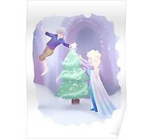 Frosty Christmas Poster