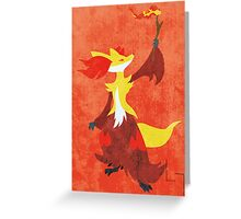 Delphox Greeting Card