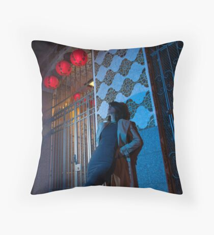 Chinatown Noir Throw Pillow