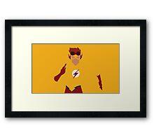 Kid Flash Minimalism  Framed Print