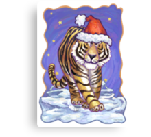 Tiger Christmas Canvas Print