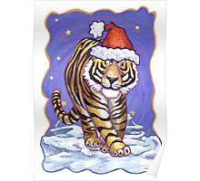Tiger Christmas Poster