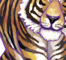 Tiger Christmas Sticker