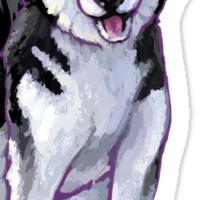 Husky Christmas Sticker