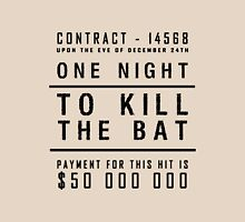 One night to kill the BAT Womens Fitted T-Shirt