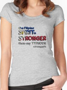 the Filipino SPIRIT is STRONGER than any TYPHOON Women's Fitted Scoop T-Shirt