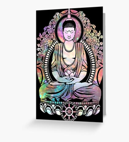 Cosmic Bodhi Outlined Greeting Card