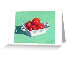 Fresh Tomatoes in the Sunlight Greeting Card