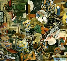 Cubist's Eating at the Socional De'segziel by Moonlight. by Andrew Nawroski