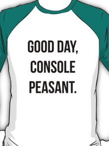 Good day, console peasant T-Shirt