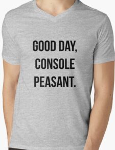 Good day, console peasant Mens V-Neck T-Shirt