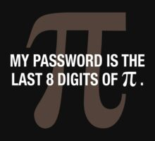 My password is the last 8 digits of PI by phanquanh