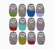 Bright Line Up of Owls T-Shirt