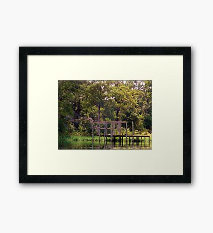 Pier of DisRegard Artistic Photograph by Shannon Sears Framed Print