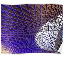 Kings Cross Modern Architecture Poster