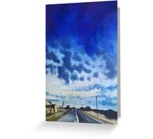 blue highway card.  travel art Greeting Card