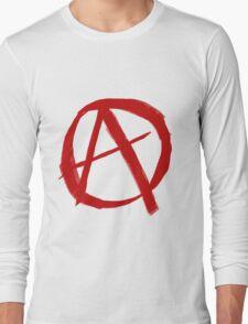 Anarchy Symbol Graffiti Style Long Sleeve T-Shirt