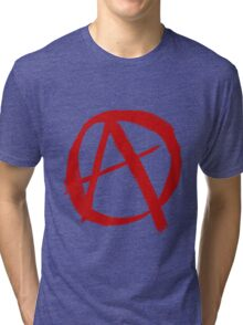 Anarchy Symbol Graffiti Style Tri-blend T-Shirt