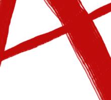 Anarchy Symbol Graffiti Style Sticker