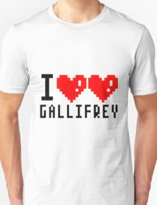 I heart heart Gallifrey 8-bit Unisex T-Shirt