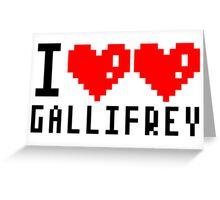 I heart heart Gallifrey 8-bit Greeting Card