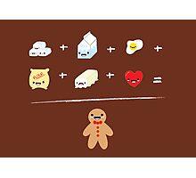 Gingerbread Man Recipe Photographic Print
