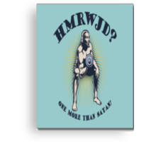 How many reps would Jesus do!? Canvas Print
