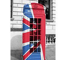Union Jack Phonebox Photographic Print