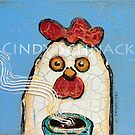 cracked chicken 3 by Cindy Schnackel