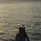 Little Snorkeler at Sunset by come-along-pond