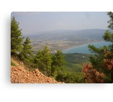 Gokova Plain, Sky, Sea Landscape Turkey Canvas Print